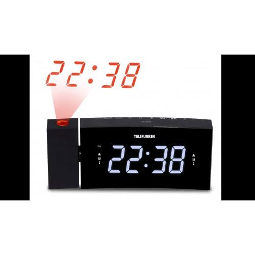 Настольные часы TELEFUNKEN TF-1568U(черный c белым)