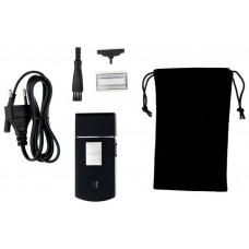 Электробритва MOSER Travel shaver,  черный и серебристый