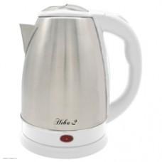 Чайник электрический ВЕЛИКИЕ РЕКИ Нева-2, 2000Вт, нержавеющая сталь и серый