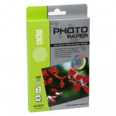 Фотобумага Cactus CS-GA620025 10x15/200г/м2/25л./белый глянцевое для струйной печати