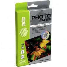 Фотобумага Cactus CS-MA622050DS 10x15/220г/м2/50л./белый матовое/матовое для струйной печати