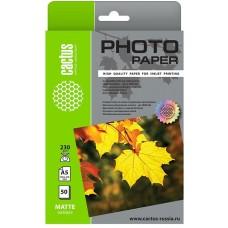 Фотобумага Cactus CS-MA523050 A5/230г/м2/50л./белый матовое для струйной печати