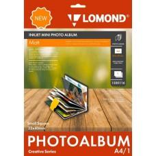 Фотобумага Lomond Мини Альбом маленький квадрат 1500116 A4 32x40мм/1л./белый матовое для струйной печати