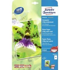 Фотобумага Avery Zweckform 2559-20 10x15/250г/м2/25л./белый сатин микропористое для струйной печати