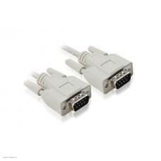 Кабель COM RS-232 порта соединительный 1.8m GCR-DB9CM2M-1.8m, 9M AM / 9M AM Premium, серый, пластиковый пакет