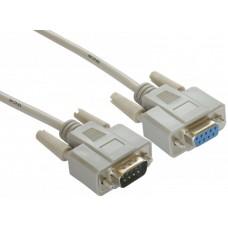 Удлинитель Greenconnect 10m COM RS-232 порта 9M AM/9F AF, пакет GCR-DB9CM2F-10m