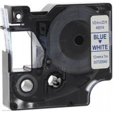 Картридж ленточный Dymo D1 S0720540 белый/синий для Dymo