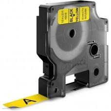 Картридж ленточный Dymo D1 S0720580 черный/желтый для Dymo