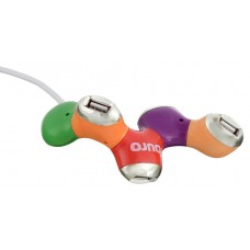 Разветвитель USB 2.0 Buro BU-HUB4-0.5-U2.0-Flower 4порт. разноцветный