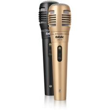 Микрофон проводной BBK CM215 2.5м черный/шампань