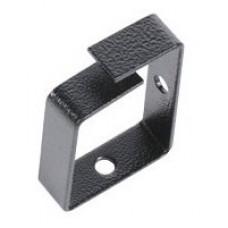 Органайзер кабельный одинарный 65x45 мм, цвет черный