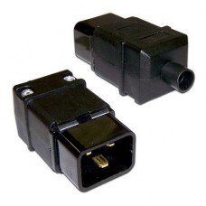 Вилка Lanmaster IEC 60320 C20, 16A, 250V, разборная, черная