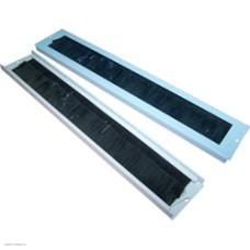 Щеточный кабельный ввод для настенных шкафов, серый