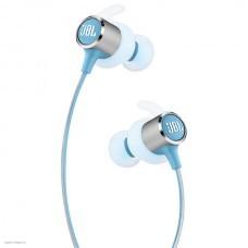 Наушники с микрофоном JBL Reflect Mini 2, Bluetooth, вкладыши, голубой [jblrefmini2tel]