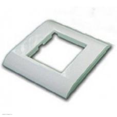 Пластиковая накладка на цоколь Lanmaster, 45х45, белая
