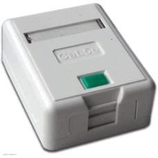 Коробка настенная Lanmaster на 1 кейстоун, с защитной шторкой, белая