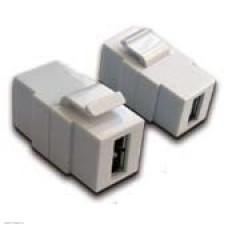 Модуль Lanmaster Keystone, USB 2.0, тип A, мама-мама, 180 градусов, белый