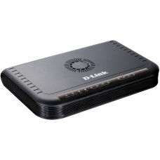 Шлюз D-Link DVG-5004S/D1A, VoIP Gateway with 4 FXS ports, 1 10/100Base-TX WAN port, and 4 10/100Base-TX LAN ports.