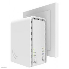 Точка доступа MikroTik PWR-LINE AP (supports Data over Powerlines) with 650MHz CPU, 64MB RAM, 1x 10/100Mbps LAN, built-in 2.4Ghz 802.11b/g/n 2x2 two chain wireless with integrated antennas, RouterOS L4, plastic cas