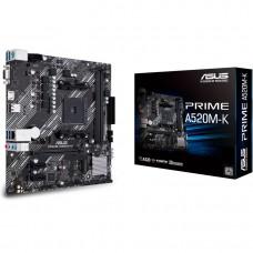 Материнская плата Asus PRIME A520M-K Soc-AM4 AMD A520 2xDDR4 mATX AC`97 8ch(7.1) GbLAN RAID+VGA+HDMI