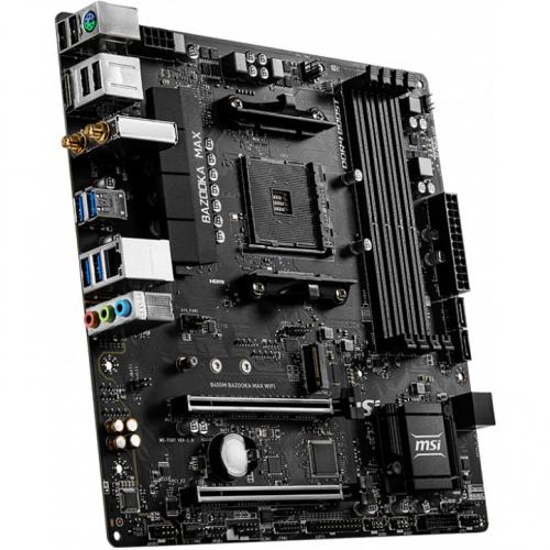 Материнская плата MSI B450M BAZOOKA MAX WIFI Soc-AM4 AMD B450 4xDDR4 mATX AC`97 8ch(7.1) GbLAN RAID+HDMI