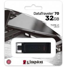 Флеш Диск Kingston 32Gb DataTraveler 70 DT70/32GB USB3.0 черный