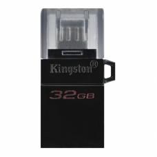 Флеш Диск Kingston 32Gb DataTraveler microDuo 3 G2 DTDUO3G2/32GB USB3.0 черный