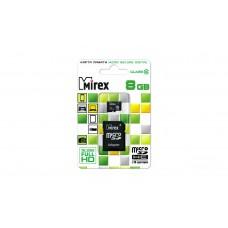 Флеш Карта Памяти (MicroSDHC) 8Gb Mirex class 10  + SD адаптер 13613-AD10SD08