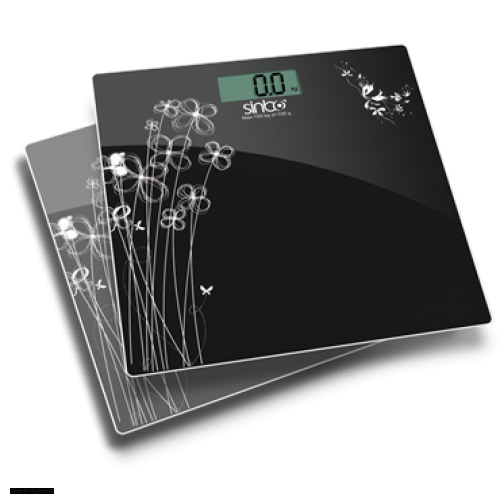 Весы напольные Sinbo SBS-4429 чёрный/рисунок