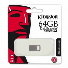 Флеш Диск Kingston 64Gb DataTraveler Micro 3.1 DTMC3/64GB USB3.1 серебристый