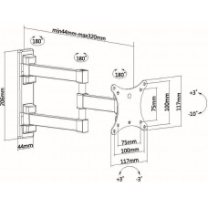 Кронштейн для телевизора Ultramounts UM 893 черный 13