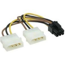 Переходники Gembird 2xMolex->PCI-E 6pin, для подкл. в/к к б/п, шт
