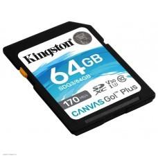 Флеш карта SDXC 64Gb Kingston Canvas Go! Plus UHS-I U3 170MB/s (SDG3/64GB)