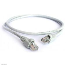 Патч-корд прямой Greenconnect 0.3m, UTP кат.5e, серый, позолоченные контакты, 24 AWG, литой, GCR-LNC03-0.3m, ethernet high speed 1 Гбит/с, RJ45, T568B GCR-LNC03-0.3m