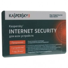 ПО Kaspersky Internet Security Multi-Device Russian Ed. 3-Device 1 year Renewal Card (KL1939ROCFR)