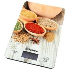 Весы кухонные SAKURA SA-6077WS  8кг. бел