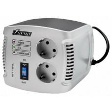 Стабилизатор POWERMAN AVS 1000C, ступенчатый регулятор, 1000ВА/500Вт, 150-280В, максимальный входной ток 8А, 2 евророзетки, IP-20, напольный,  151мм х 126мм х 123мм, 2 кг. POWERMAN AVS 1000 C