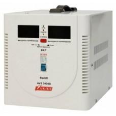 Стабилизатор POWERMAN AVS 3000D, ступенчатый регулятор, цифровые индикаторы уровней напряжения, 3000ВА, 140-260В, максимальный входной ток 20А, клеммная колодка, IP-20, напольный,  280мм х 200мм х 225мм, 6.8 кг. POWERMAN AVS 3000D