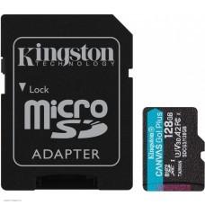 Карта памяти 128Gb MicroSD Kingston Class 10 + SD адаптер (SDCG3/128GB)