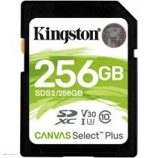 Карта памяти 256Gb Kingston Canvas Select Plus SDXC Class 10 (SDS2/256GB)