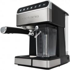 Кофеварка POLARIS PCM 1535E,  эспрессо,  черный  / серебристый
