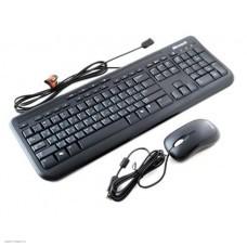 Клавиатура + мышь Microsoft Wired 600
