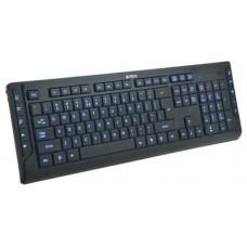 Клавиатура A4-Tech A4-KD-600L black (синяя подсветка символов, 10 доп. клавиш)