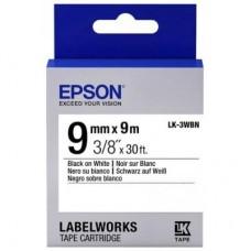 Лента Epson LK3WBN Std Blk/Wht 9/9 C53S653003
