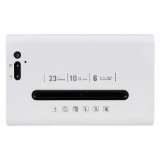 Шредер Deli 9901 белый/черный (секр.P-5)/фрагменты/6лист./23лтр./скрепки/скобы