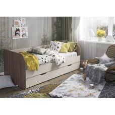 Кровать детская Балли 2-х уровневая (шимо темный/шимо светлый)