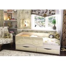 Кровать Алиса 1,6 (Ваниль глянец)