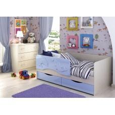 Кровать Алиса 1,6 (Голубой металлик)