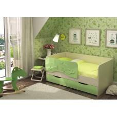 Кровать Алиса 1,6 (Салат металлик)