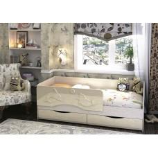 Кровать Алиса 1,4 (Ваниль глянец)